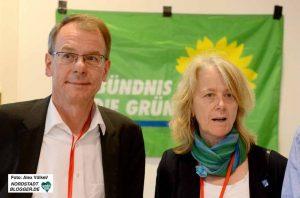 Markus Kurth und Ingrid Reuter haben für die Grünen kandidiert. Foto: Alex Völkel