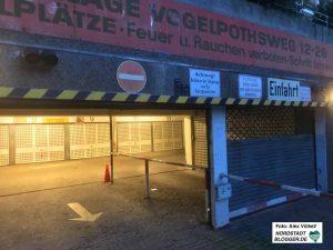 Einer der Mieter hat sich Zugang zur Tiefgarage erstritten - inklusive Stromversorgung.