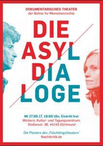 Die Asyl-Dialoge werden von der Bühne für Menschenrechte vorgestellt. Grafik: Asyl-Dialoge