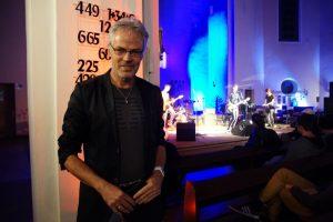 Pfarrer Friedrich Laker freut sich über die 7. Ausgabe des Halleluyeah-Festivals - Foto Leonie Krzistetzko