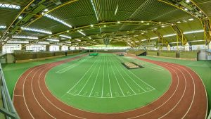 Klick auf den Trainingsplatz in der Helmut-Kernig-Halle. Foto: Roland Gorecki/ Stadt Dortmund