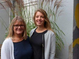 Die Sozialarbeiterinnen Regine Reinalda und Ann-Christin Czub unterstützen die Mitternachtsmission.