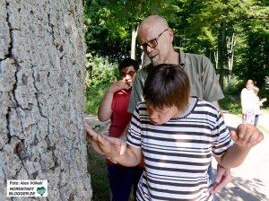 Die Naturerkundung ist in der Waldgruppe für Menschen mit Behinderung im Haus Kunterbunt Lütgendortmund sehr wichtig.