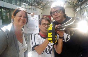 Erstmals machen die DADAisten mit einer Aktion bei den Offenen Nordstadt-Ateliers mit. Foto: R.J.Mendera