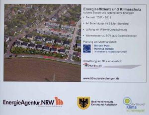 Die Solarsiedlung Apolloweg in Aplerbeck ist die erste Solarsiedlung in Dortmund. Foto: Ole Steen