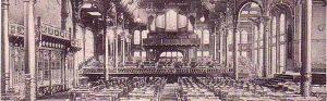Großer Festsaal im Saalbau Fredenbaum um 1900 (Slg K Winter)