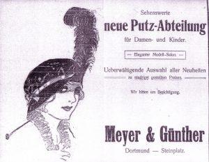 Ein Meyer & Günther-Inserat im Generalanzeiger im Jahr 1913.