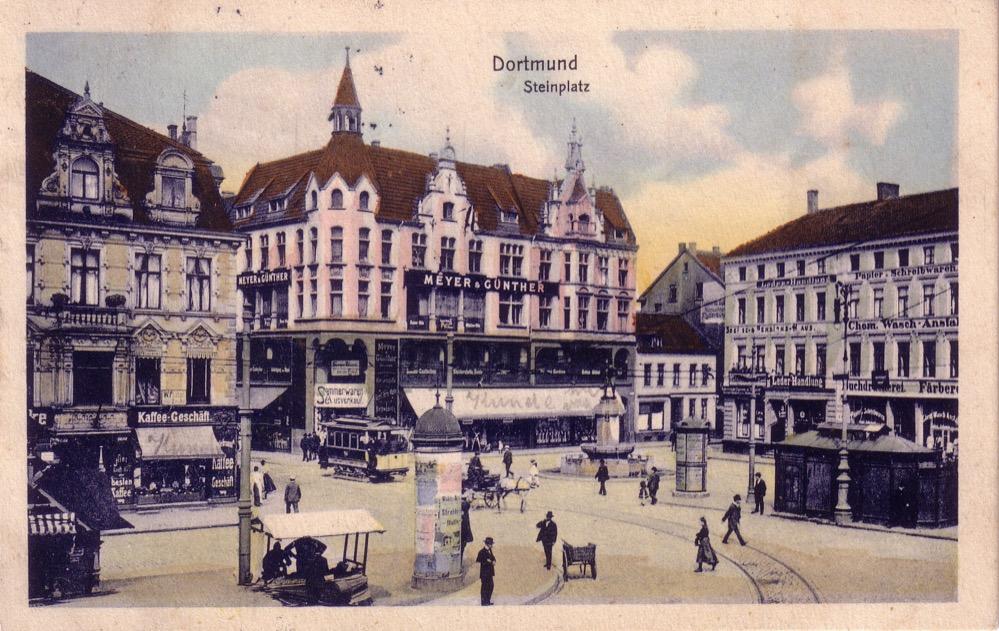 Die alte Immobilie Meyer & Günther um 1905. Bild: Sammlung Klaus Winter