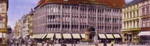 Meyer & Günther - das Kaufhaus am Steinplatz um_1915. Bild: Sammlung Klaus Winter