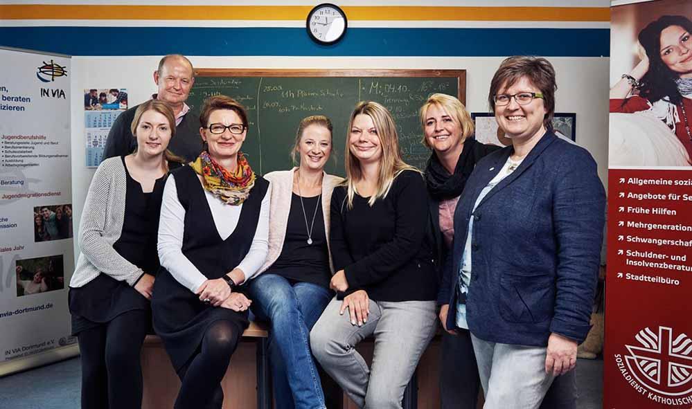 v.l.n.r. Franziska Guenther, Ansgar Schocke, Reinhild Steffens-Schulte, Katrin Hoernemann, Sabrina Beerenberg, Tina Gerding, Annette Loedige-Wennemaring