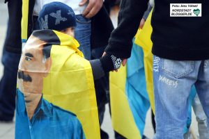 Der seit Jahren in der Türkei inhaftierte PKK-Führer Abdullah Öcalan ist auf Demos allgegenwärtig.