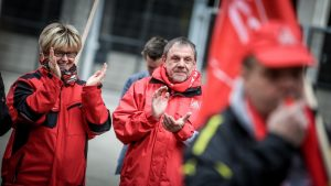 Die Dortmunder DGB-Vorsitzende Jutta Reiter und Jürgen Meier, Erster Bevollmächtigter der IG Metall Dortmund.