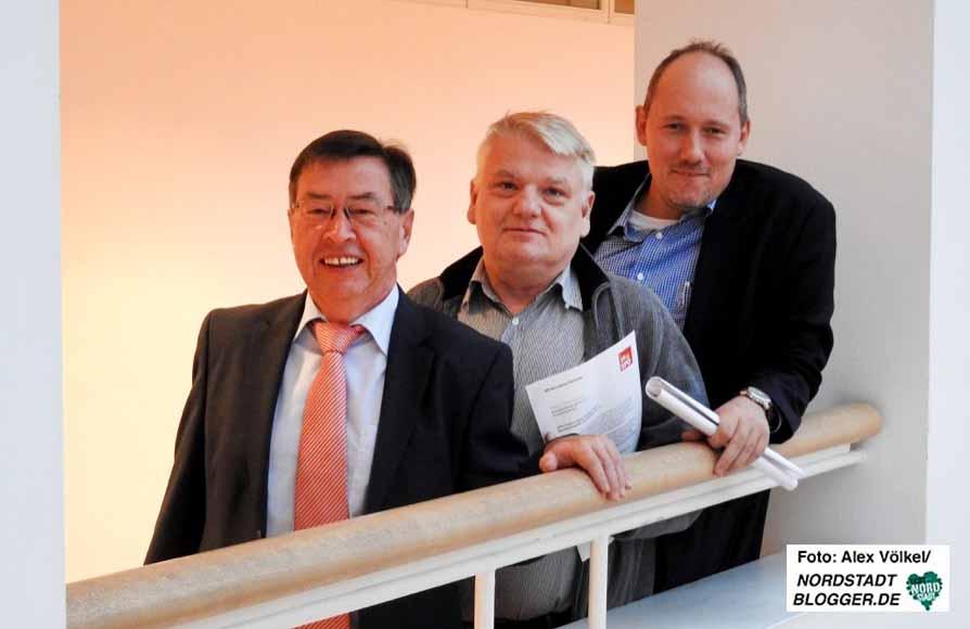Heinz-Dieter Düdder, Norbert Schilff und Christian Uhr stellten das 15-Punkte-Programm der SPD vor.