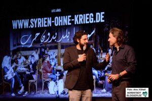 Moderator Aladin El-Mafaalani und Lutz Jäckel i Gespräch.