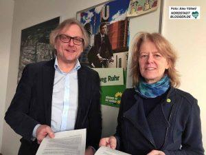 Ulrich Langhorst und Ingrid Reuter sind die FraktionssprecherInnen der Grünen.