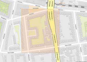 Das Sonnenplatz-Karree liegt zwischen Sonnenplatz und Neuer Graben. Karte: www.mapz.com