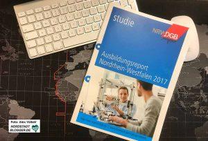 Der DGB-Ausbildungsreport 2017 für Nordrhein-Westfalen liegt auf dem Tisch.