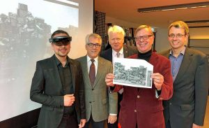 Markus Rall (viality), Wolfgang E. Weick, OB Ullrich Sierau, Gerd Kolbe (Schachverein) und Dr. Stefan Mühlhofer präsentierten die Idee. Foto: Joachim vom Brocke