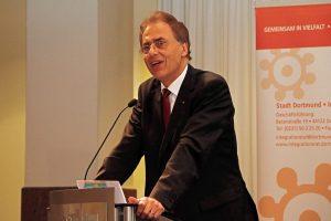 Laudator war Uwe Samulewicz / Vorstandsvorsitzender der Sparkasse Dortmund