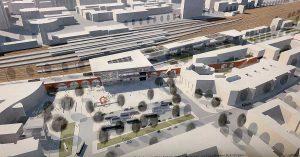 Ein Viertel mit eigenständigem Charakter sieht das Büro Trojan+ Trojan. Der nördliche Vorplatz wird durch ein neues Kopfgebäude akzentuiert.