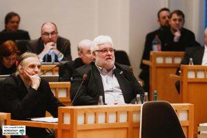 Utz Kowalewski (Linke & Piraten) und Heiner Garbe (AfD) im Rat.