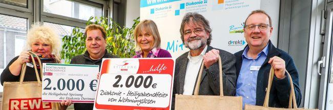 Heiligabend nicht allein: Weihnachtsfeier der Diakonie für Dortmunder Wohnungslose erhält 4000-Euro-Spende