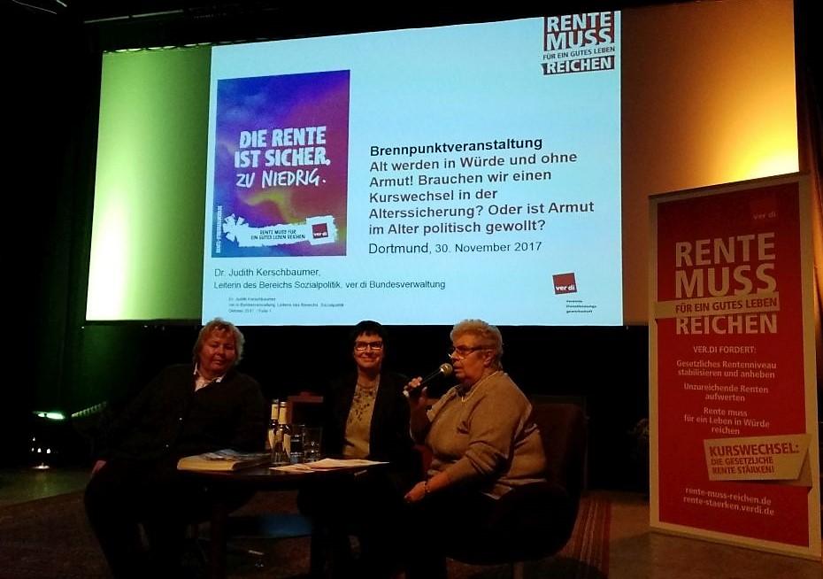 v.l.: Dr. Judith Kerschbaumer, Birgit Haverkemper und Agnes Klein.