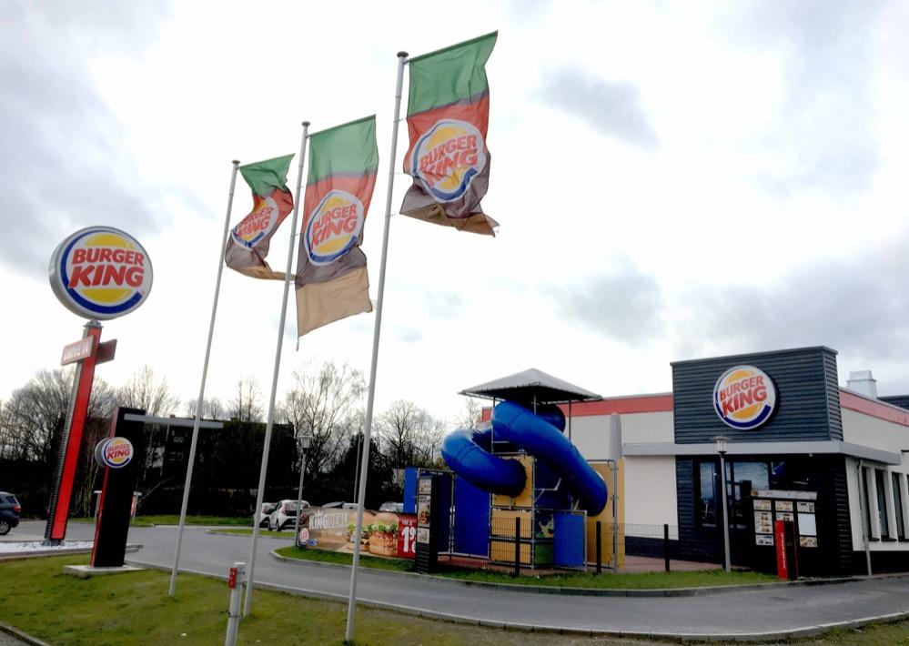 Burger-King-Filiale in Dortmund Eving: Der schöne Schein trügt. Hinter der Öffentlichkeitsarbeit brodelt es. Foto: Oliver Schaper.