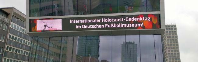 Deutsches Fußballmuseum: Stadt Dortmund und DFB erinnern erstmalig gemeinsam an die Opfer des Nationalsozialismus