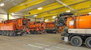 Moderne Fahrzeug- und Lagerhallen für 30 Lkw und 16 Arbeitsmaschinen wurden in Wambel gebaut.