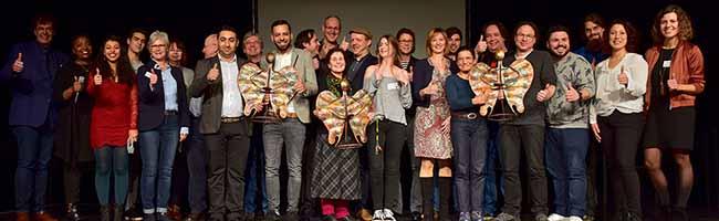 """Ehrung für das Ehrenamt: Den """"Engel der Nordstadt"""" erhielten Kissa Utzelmann, Hassan Adzaj und die Initiative Velokitchen"""