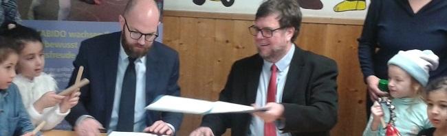 """""""Hast Du Töne"""": Fabido-Kitas und die Musikschule in der Nordstadt unterzeichnen einen Kooperationsvertrag"""