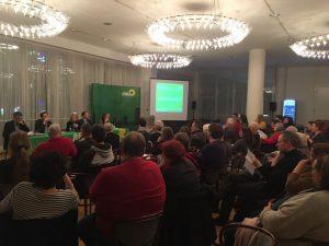 Interessierte BürgerInnen und VertreterInnen von Verbänden und Initiativen hatten sich waren der Einladung der GRÜNEN ins Rathaus gefolgt, um über bezahlbares Wohnen in Dortmund zu diskutieren