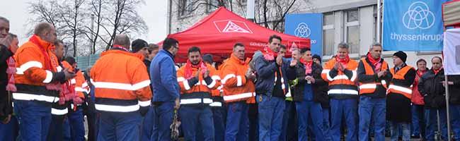 IG Metall Dortmund und ver.di – Warnstreiks und Proteste zur Unterstützung ihrer Forderungen in den Tarifverhandlungen