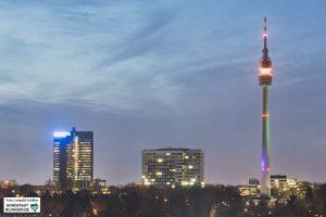 Skyline von Dortmund mit Florianturm