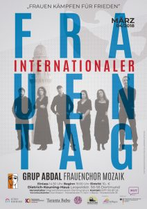 Internationaler Frauentag Plakat im Dietrich-Keuning-Haus
