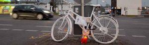 Das dritte Dortmunder Ghost Bike wurde an der Bornstraße aufgestellt.(Foto: Dortmunder Radverkehrsinitiativen)