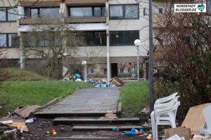 Trostlosigkeit: das Gebäude nach der Räumung