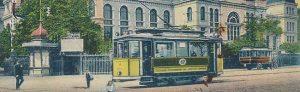 Zielpunkt Fredenbaum um 1910. Neben der Haltestelle befand sich auch das erste Straßenbahn-Depot – für 48 Pferde! Bild: Sammlung Klaus Winter