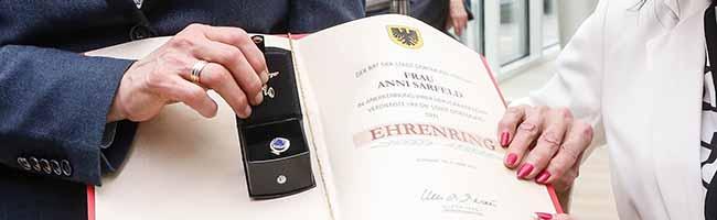 Auszeichnung für Anni Sarfeld: Die Initiatorin des Vereins proKULTUR e.V. erhält den Ehrenring der Stadt Dortmund