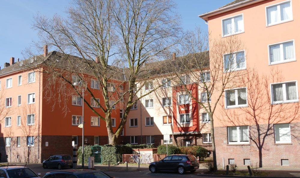 aktuelle Ansicht des Wohnblocks Brackeler Str. 28-36 (Aufnahme Klaus Winter)