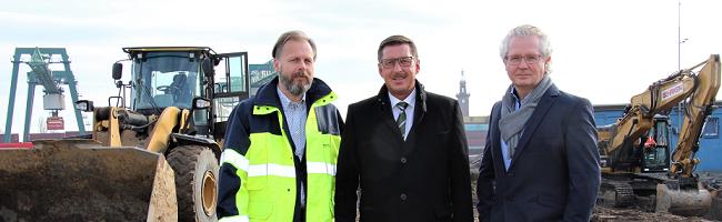 Mehr Schüttgut-Umschlag in Dortmund: Im Kohlenhafen sollen ab Juni täglich 2.000 Tonnen Splitt umgeschlagen werden