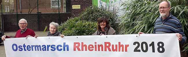 """Ostermarsch endet in Dortmund: """"Abrüsten statt aufrüsten – Atomwaffen abschaffen – Friedenspolitik statt Konfrontation!"""""""