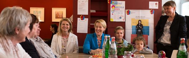Bundesfamilienministerin Dr. Franziska Giffey besucht das Mehrgenerationenhaus Mütterzentrum Dortmund e.V.