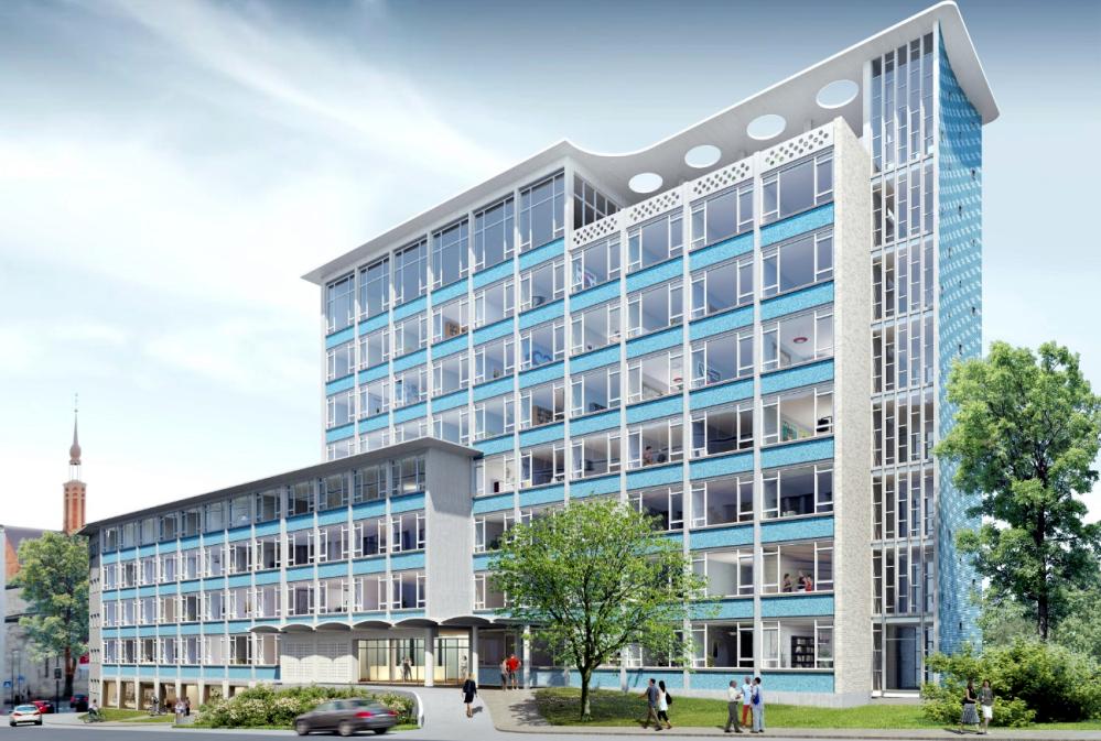 So soll es aussehen nach der Sanierung: das Gesundheitsamt an der Hövelstraße. Foto: Stadt Dortmund