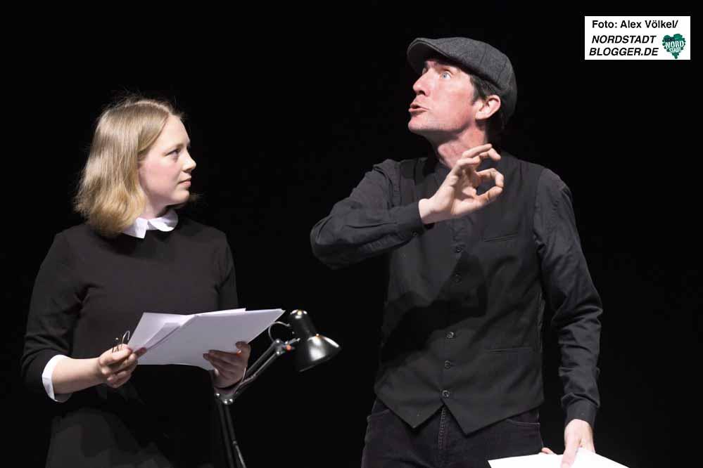 Paula Stöckmann und Hendrik Becker vom Theater Löwenherz aus Bochum. Fotos: Alex Völkel