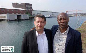 Amet Bekir links und William Sawyer rechts. Im Idealfall kommt es zwischen ihren Unternehmen zur ersten Kooperation unter dem Dach des DIWN