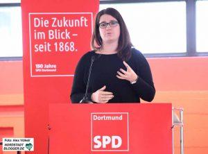 Anna Spaenhoff (Jusos Dortmund) ist als Beisitzerin in den neuen Landesvorstand der NRW-SPD gewählt worden.