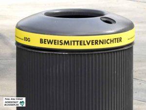 EDG - Mülleimer - Beweismittelvernichter