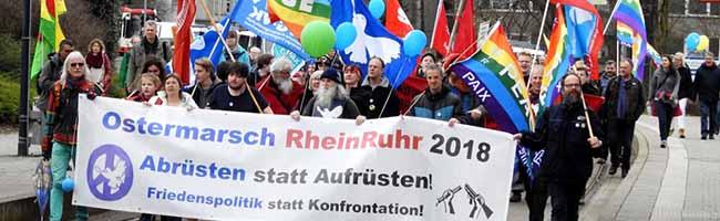 Dreitägiger Ostermarsch endet in Dortmund: Friedlicher, bunter und vielfältiger Protest gegen Krieg und Faschismus